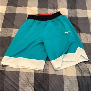 Blue black white and red shorts. Nike, size medium